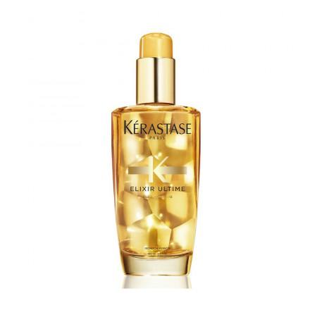 Per un finish luminoso e per idratare ulteriormente le tue lunghezze, prova Kerastase Elixir ultime Original Oil