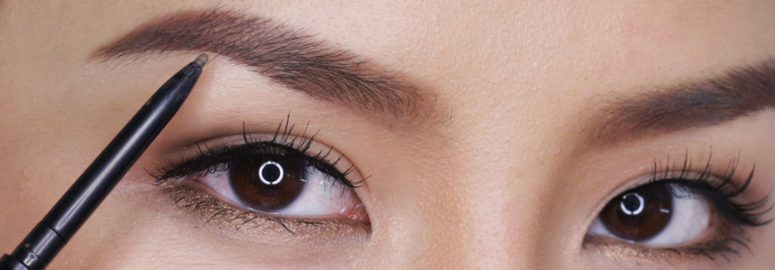 trucco sopracciglia pennello occhi forme viso