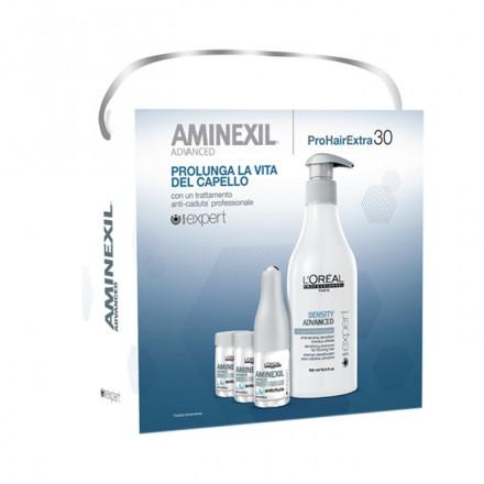 Hai capelli sottili e che cadono? Prova L'Oreal Kit Aminexil Advanced! La sua formula arricchita con Aminexil e Omega 6 stimola l'attività delle radici, favorendone la densità.