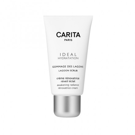 Per avere una pelle perfettamente pulita e luminosa, usa lo scrub Ideal Hydratation Lagoon di Carita. Eliminando le impurità dal tuo viso, lascerà la tua pelle morbida, e splendente!
